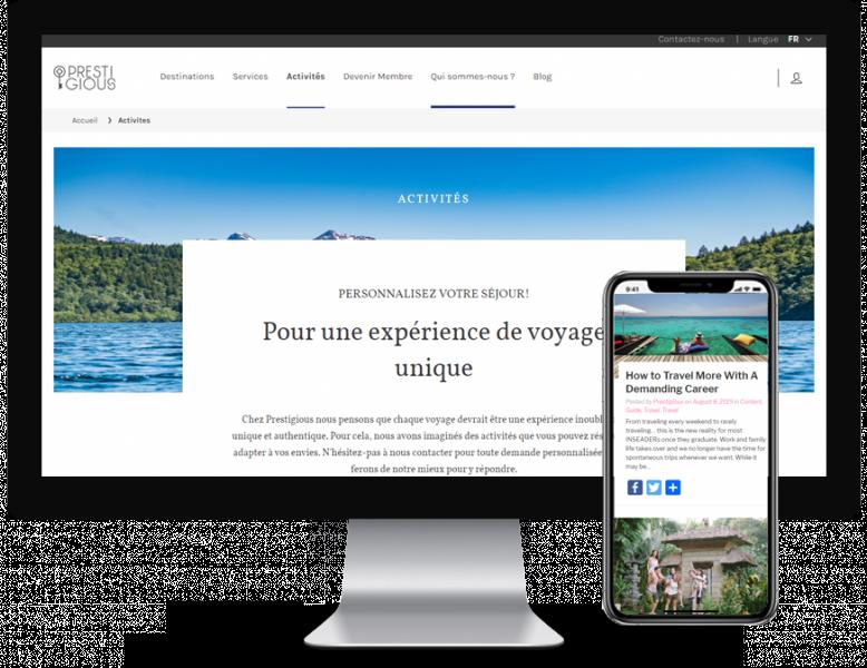 Site web Prestigious