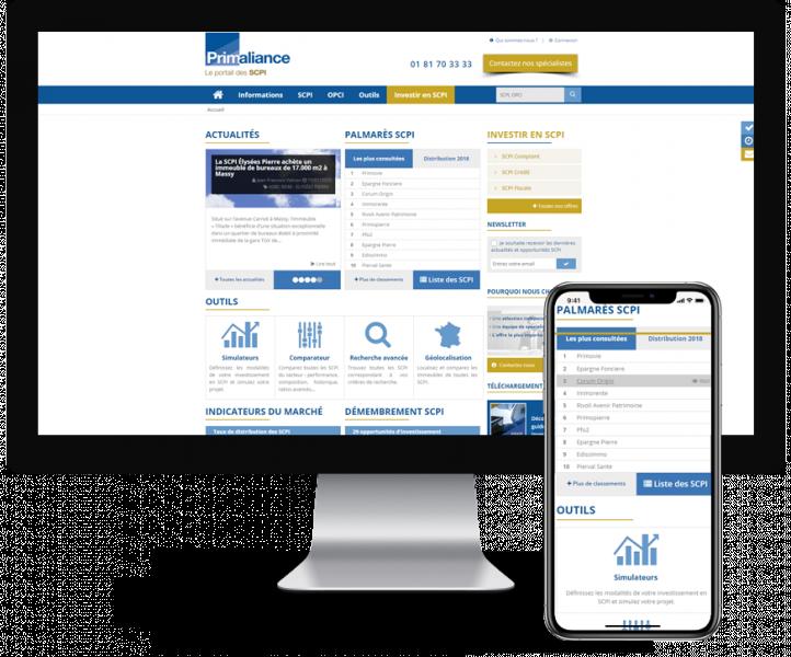 Site Primaliance - Groupe Foncia